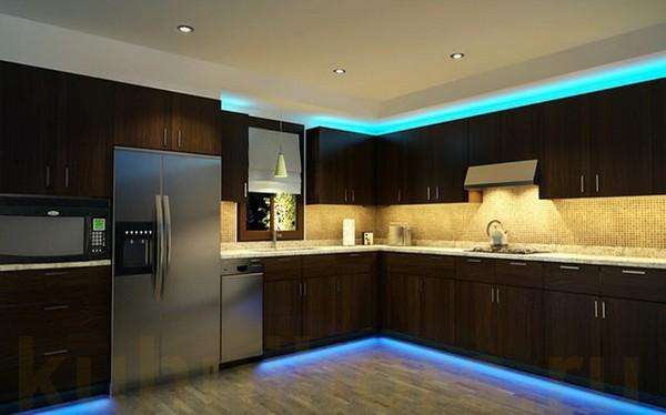 подсветка led для кухни фото