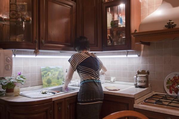 подсветка рабочего стола на кухне фото