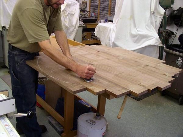 стол обеденный круглый своими руками фото