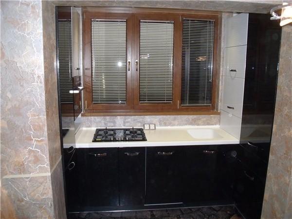 дизайн кухни на балконе фото