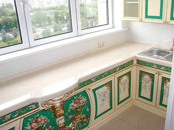 как сделать кухню на балконе фото