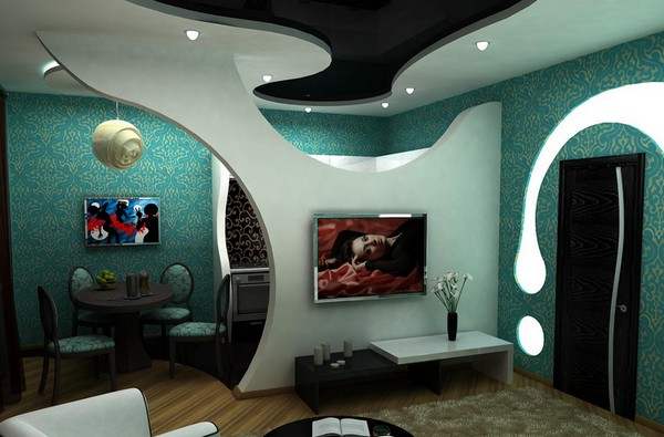 декоративные перегородки между кухней и гостиной фото