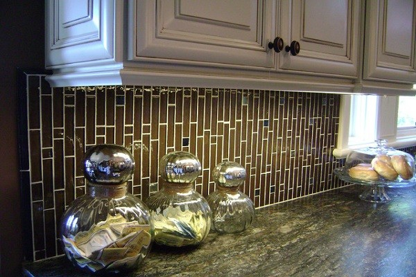 стеклянная мозаика для кухни фото