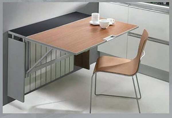 откидные столы для маленькой кухни фото
