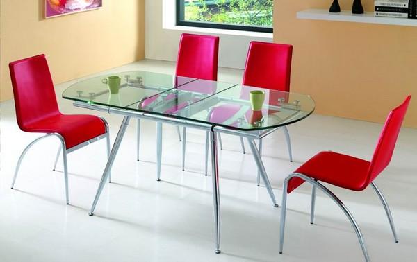 стеклянный стол для маленькой кухни фото