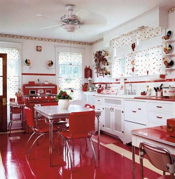 кухня в красно белом цвете