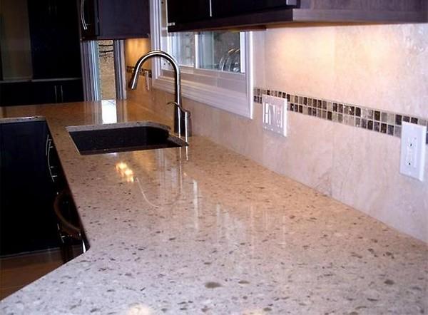 кварцевые кухонные столешницы фото