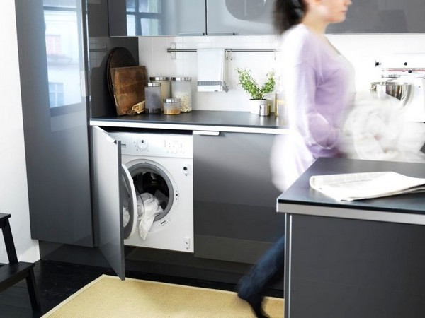 стиральная машина на кухне плюсы и минусы фото