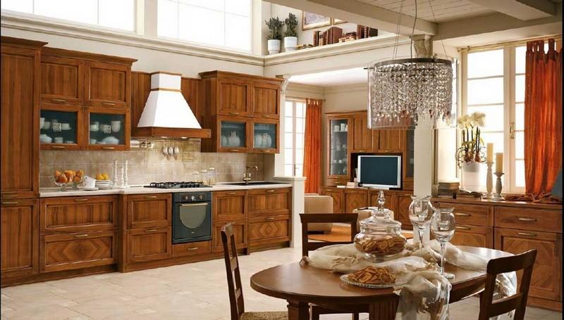 интерьер кухни в классическом стиле фото
