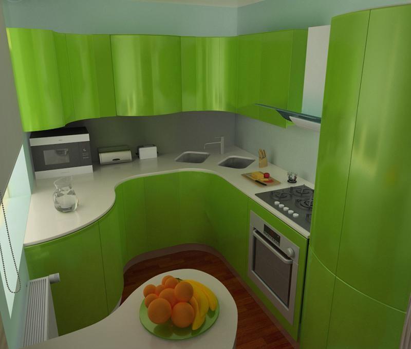 кухня в зеленых тонах фото