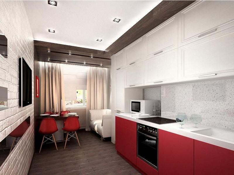 маленькая кухня в стиле минимализм фото