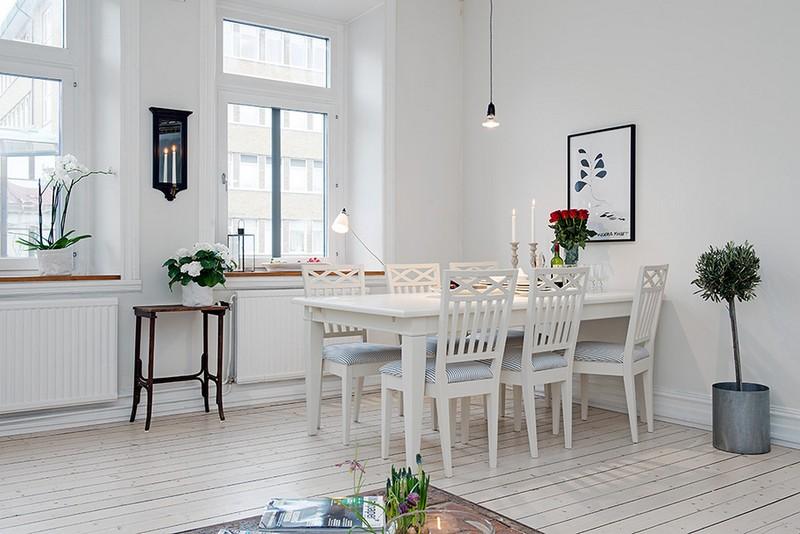 белые кухни в скандинавском стиле фото