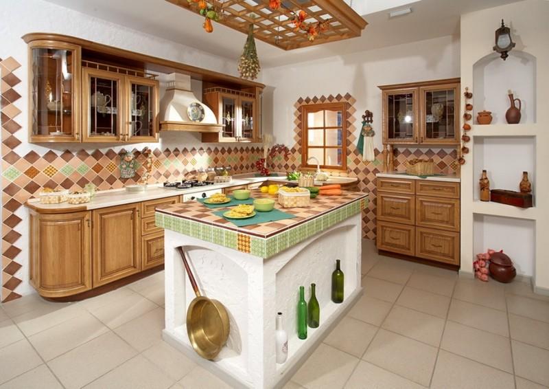 деревенский стиль в интерьере кухни фото