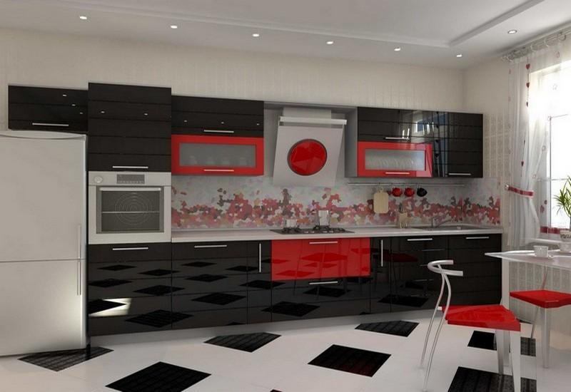 дизайн кухни в стиле хай тек фото