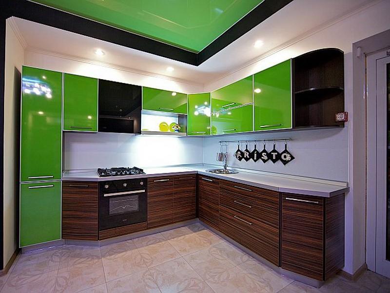 фисташковая кухня в интерьере фото