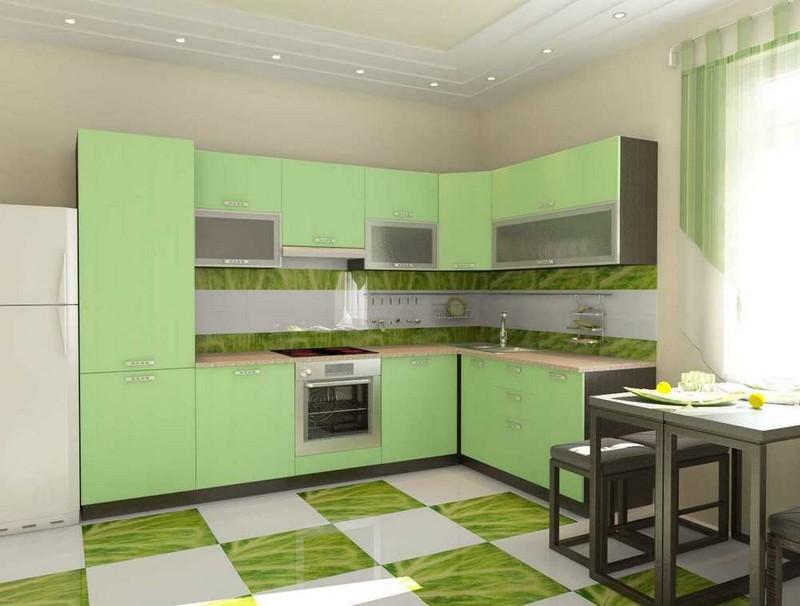 кухня фисташкового цвета фото