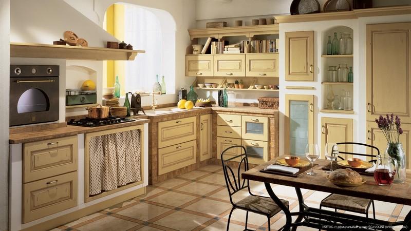 кухня в деревенском стиле фото