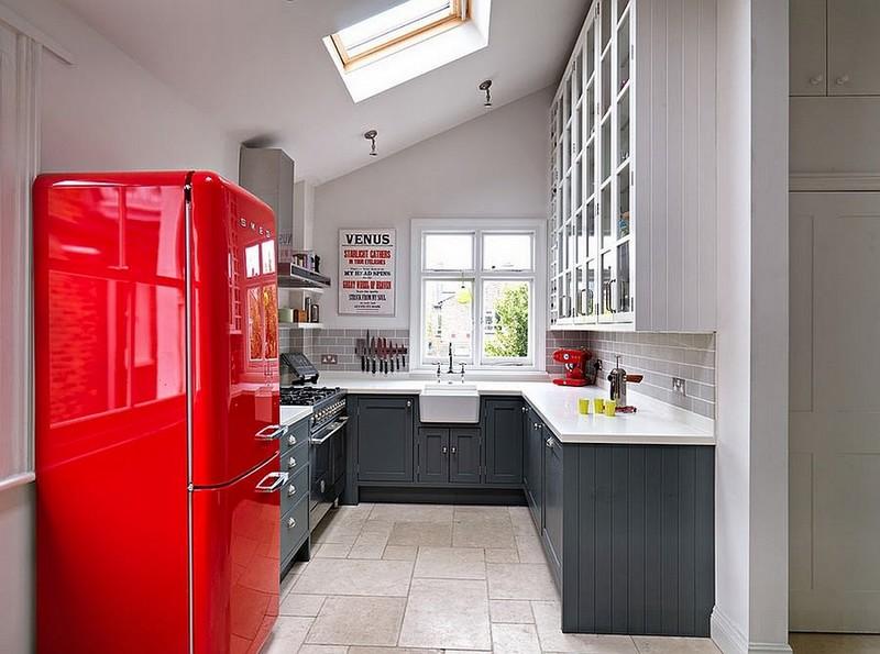 кухня в розовых тонах фото