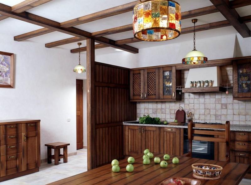кухня в стиле кантри в квартире фото