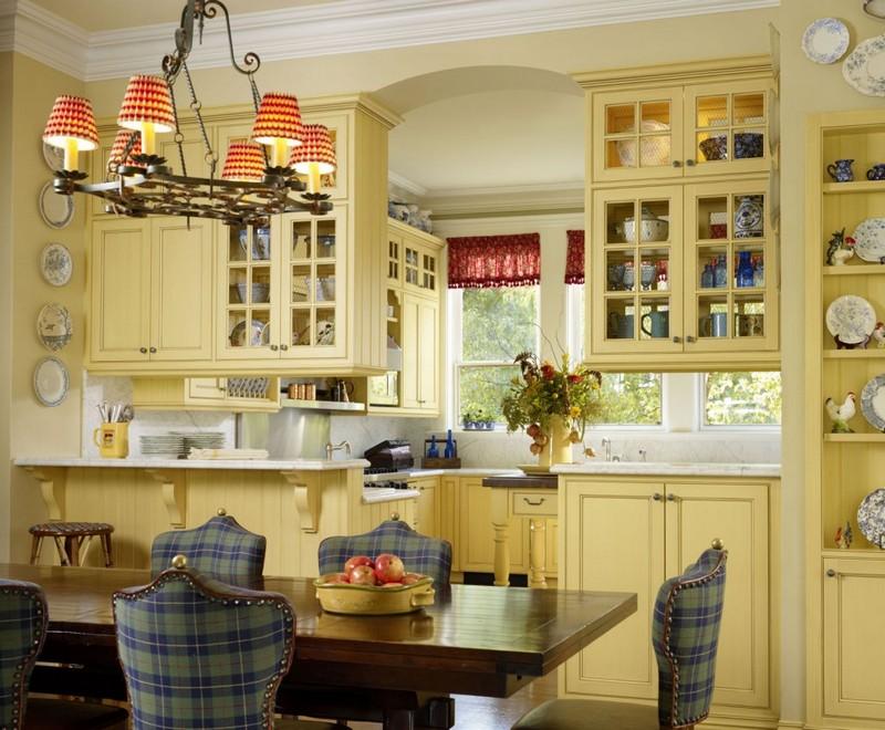 маленькая кухня в стиле кантри фото
