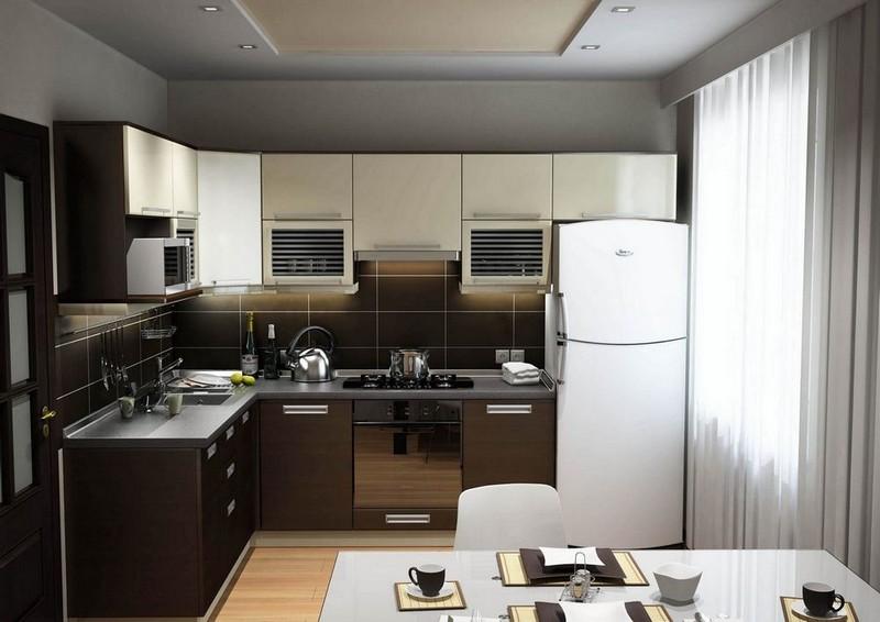 маленькая кухня в стиле хай тек фото