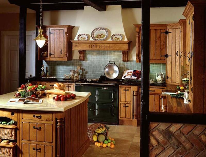 оформление кухни в стиле кантри фото