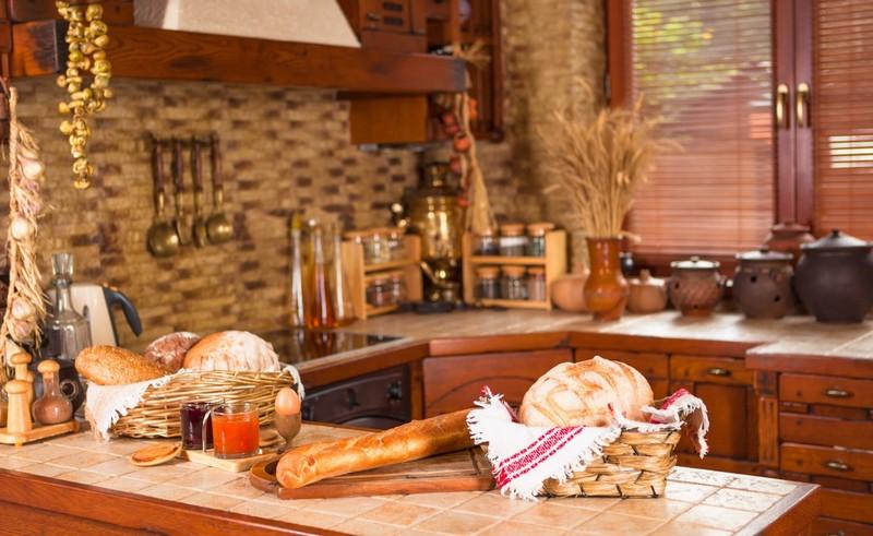 стиль кантри в интерьере кухни фото