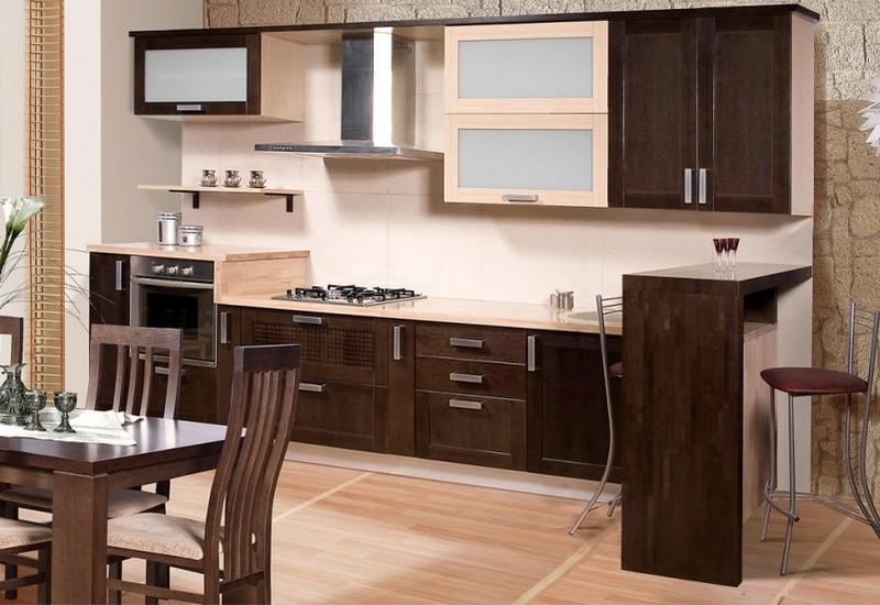 бежево коричневая кухня фото