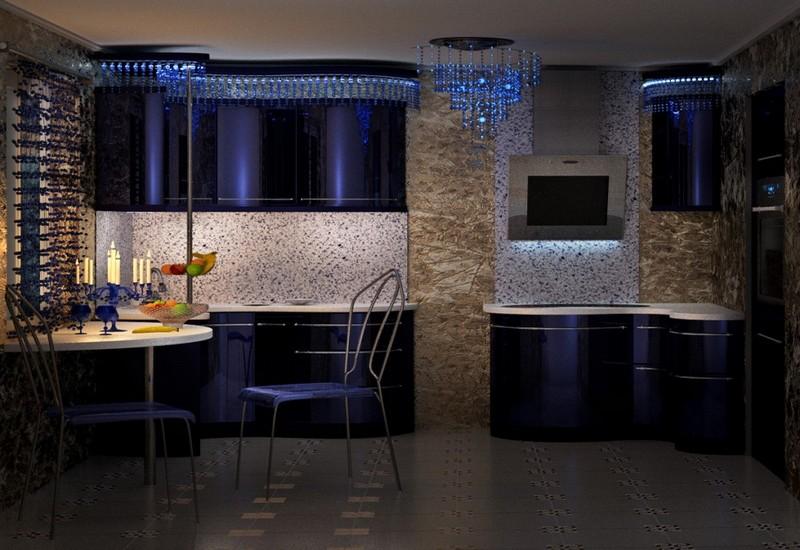 черная кухня модерн фото