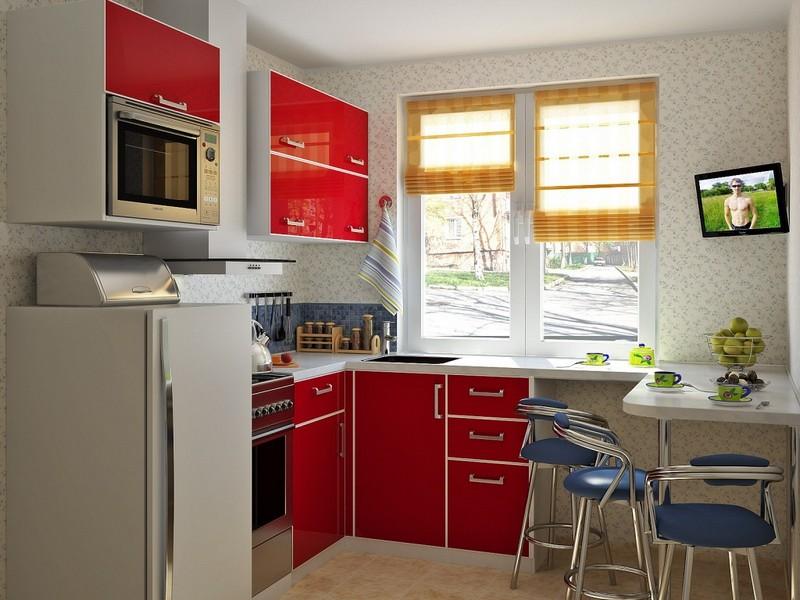 идеи интерьера для маленькой кухни фото