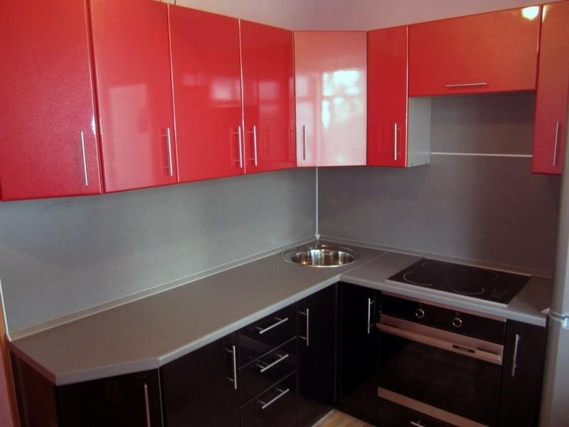 красно коричневая кухня фото