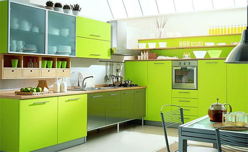 кухни салатового цвета фото