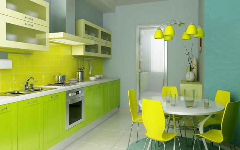 салатовая кухня фото
