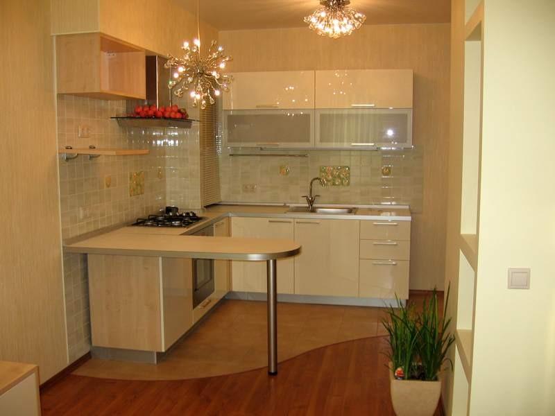 современная кухня гостиная фото