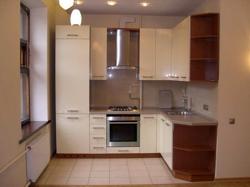 современный интерьер маленькой кухни фото