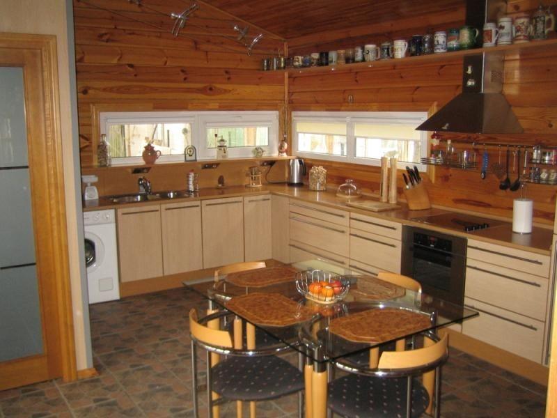 чем отделать кухню в деревянном доме фото