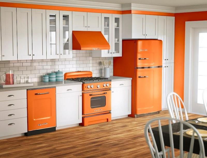 дизайн кухни в ретро стиле фото