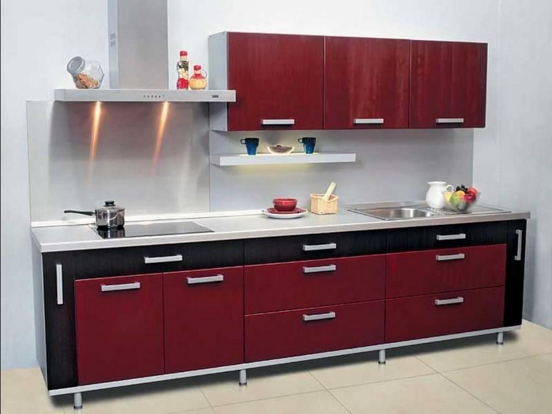 бордово черные кухни фото