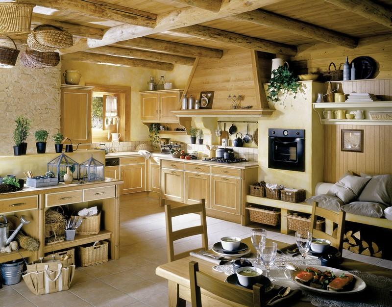 кухни в стиле прованс в деревянном доме фото