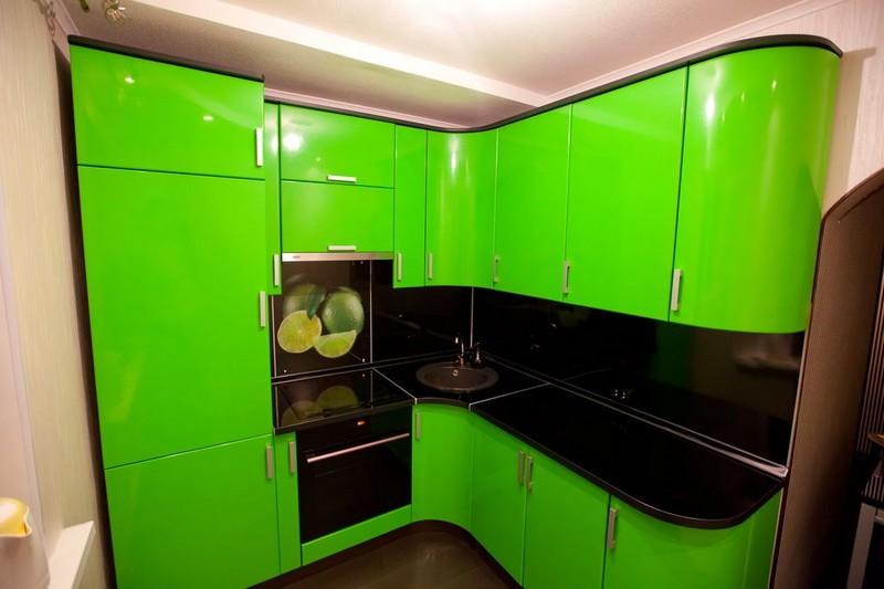 цвет лайма в интерьере кухни фото