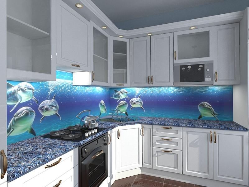 дизайн кухни в морском стиле фото