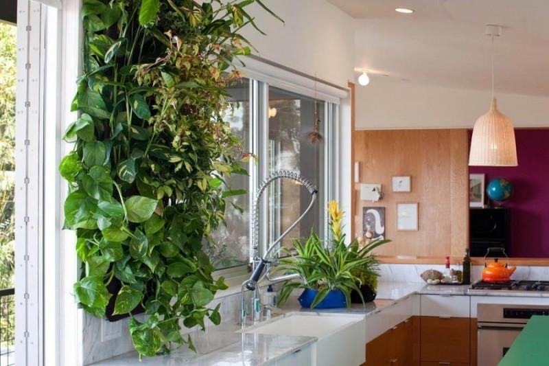интерьер кухни в эко стиле фото