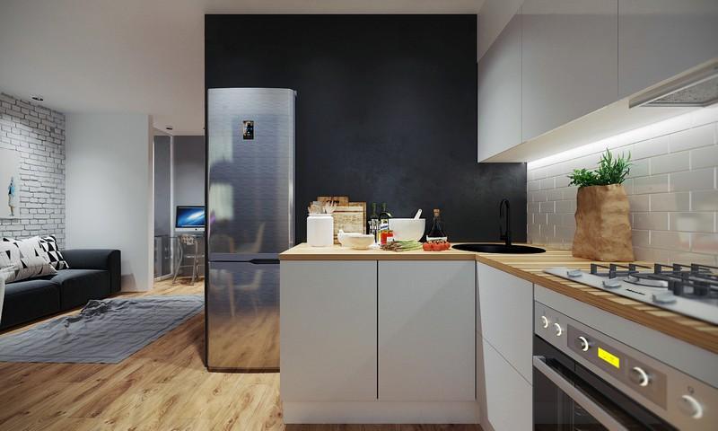 кухня гостиная в современном стиле фото