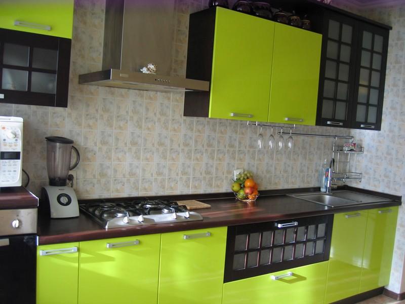 кухня лайм с венге фото