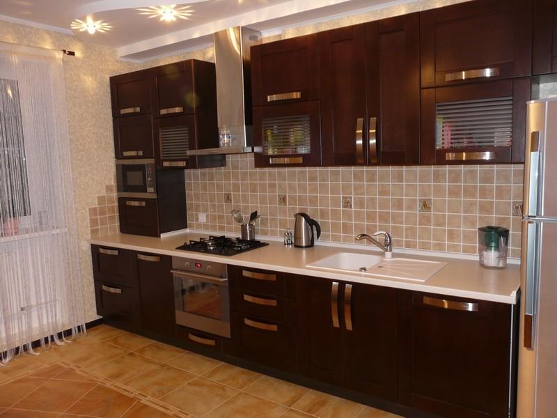 кухня венге с бежевым фото