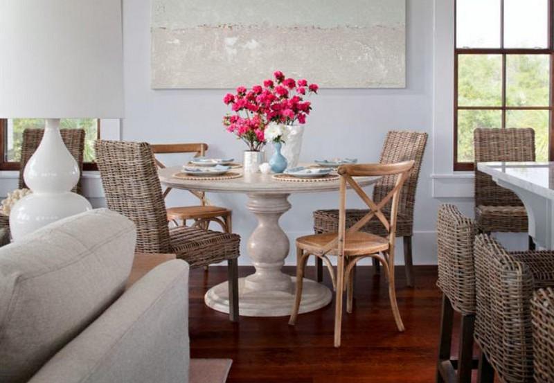 мебель для кухни в морском стиле фото