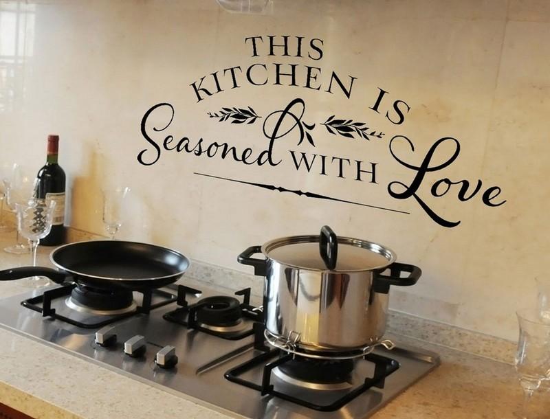 наклейки на кухню на стену фото