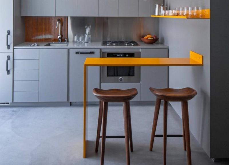 маленькая кухня с островом фото