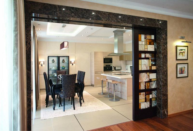 варианты дверей на кухню фото
