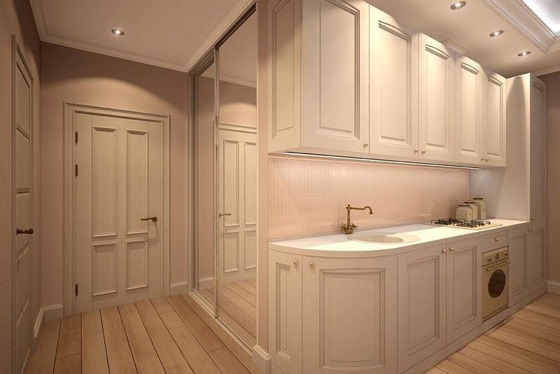 дизайн кухни в коридоре фото